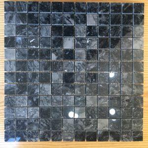 Đá dán Square 23x23 vân đen bóng