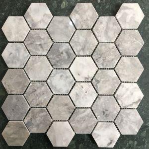 Đá dán lục giác 53x53 Bông mai bóng