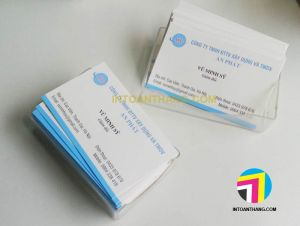 in name card cho công ty xây dựng An Phát