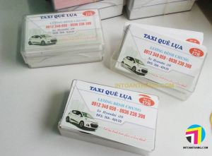 in namecard taxi cho hãng taxi Quê Lụa