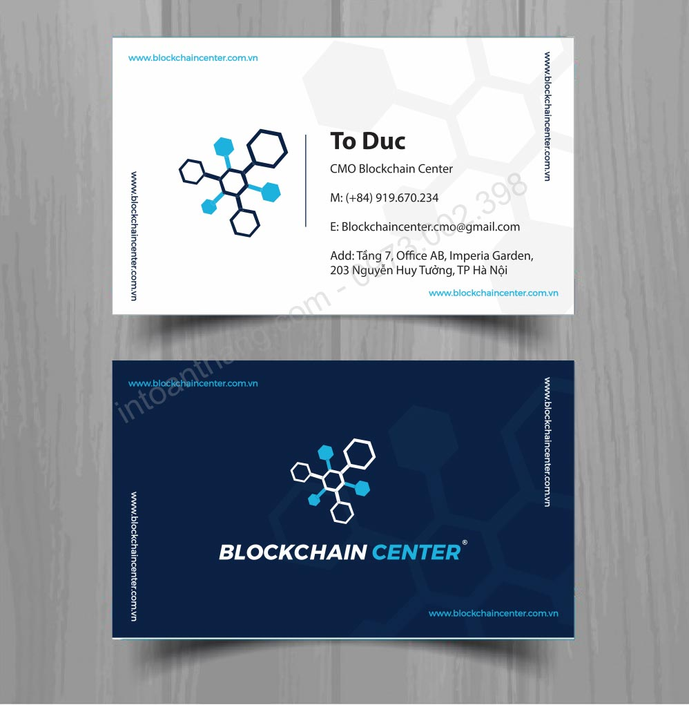 in business card
