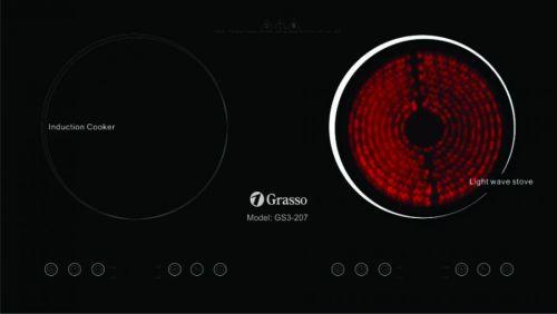 Bếp 1 từ 1 hồng ngoại GRASSO GS3-207