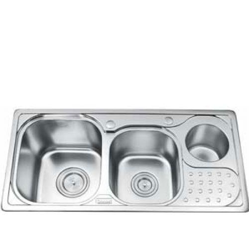 Chậu rửa bát Gorlde GD 5203 (có hộp đựng rác)
