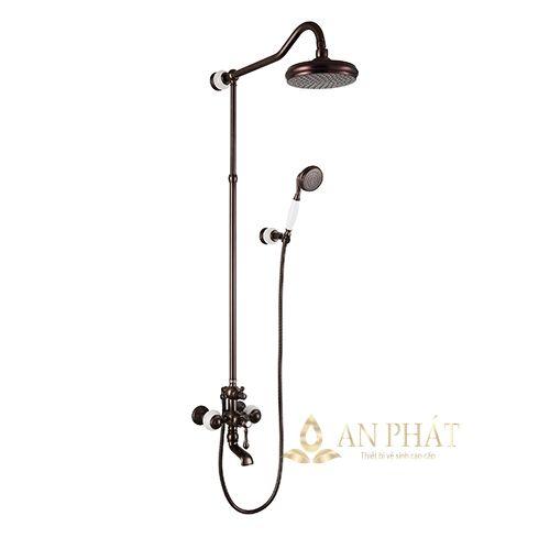 Sen cây tắm bằng đồng đệm đá tự nhiên StoneSicks SGC-01 ( Brown )