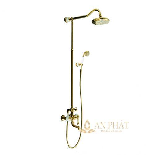 Sen cây tắm bằng đồng đệm đá tự nhiên StoneSicks SGC-02 ( Gold )