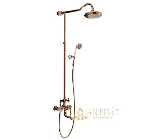 Sen cây tắm bằng đồng đệm đá tự nhiên StoneSicks SGC-03 ( Rose gold )