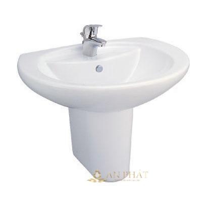 Chậu rửa treo chân ngắn ốp tường C0107 / C4201