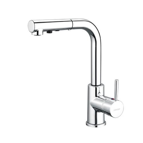 Vòi rửa bát nóng lạnh Caesar K915C (dây rút