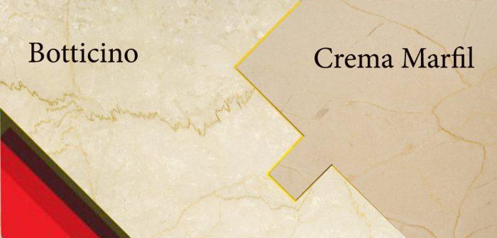 Sự khác nhau giữa đá Crema Marfil và Botticino