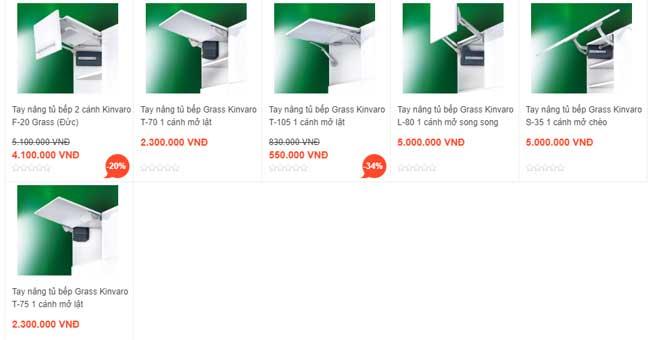 Tìm hiểu tay nâng 2 cánh tủ bếp GRASS đang được ưa chuộng trên thị trường