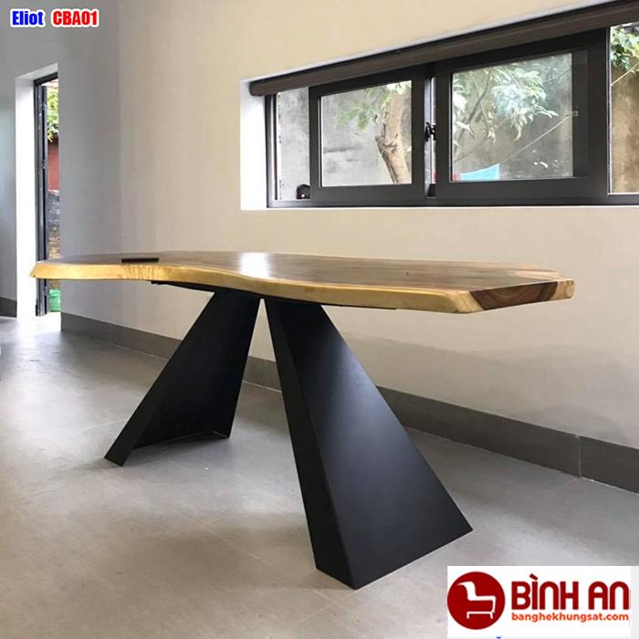 Tại sao nên chọn bàn ăn khung sắt mặt gỗ tại nội thất Bình An