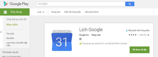 Thêm Âm lịch vào ứng dụng lịch mặc định trên thiết bị Android