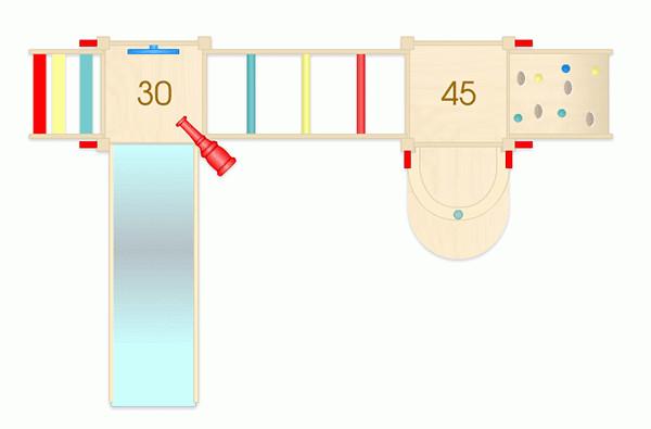Cầu trượt liên hoàn gỗ mầm non 02
