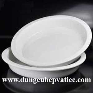 khay bup phe tron bang su, khay sứ tròn cao cấp, khay thực phẩm bằng sứ, khay su, khay buffet bang su