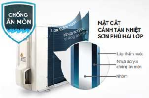 Cánh tản nhiệt của dàn nóng RC50NV1V chống ăn mòn