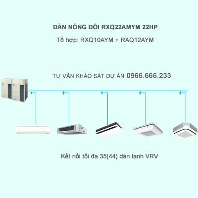 Dàn nóng điều hòa trung tâm VRV A RXQ22AMYM kết nối 35(44) dàn VRV