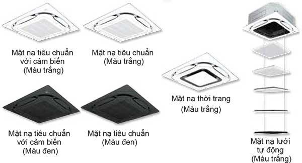 Các loại mặt nạ dàn lạnh cassette âm trần FCF