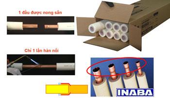 Báo giá ống đồng cây thái lan đã luồn bảo ôn cách nhiệt, chống cháy