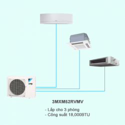 Điều hòa multi Daikin 2 chiều 3MXM52RVMV 18,000BTU R32
