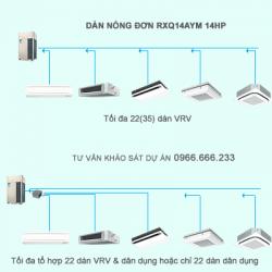 Điều hòa trung tâm Daikin VRV A RXQ14AYM 14HP 1 chiều