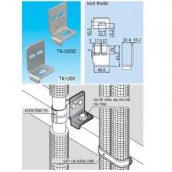 Giá đỡ chiều dọc cho kết cấu thép dùng cho ống TK
