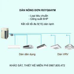 Điều hòa trung tâm Daikin VRV H RXYQ6AYM 6HP 2 chiều