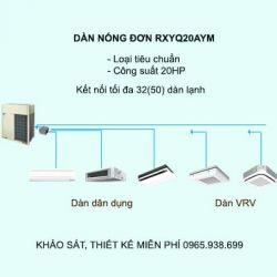 Điều hòa trung tâm Daikin VRV H RXYQ20AYM 20HP 2 chiều
