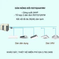 Điều hòa trung tâm Daikin VRV H RXYQ24AYMV 24HP 2 chiều