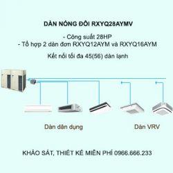 Điều hòa trung tâm Daikin VRV H RXYQ28AYMV 28HP 2 chiều