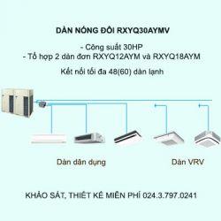 Điều hòa trung tâm Daikin VRV H RXYQ30AYMV 30HP 2 chiều