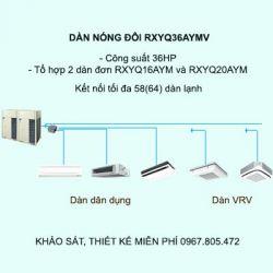 Điều hòa trung tâm Daikin VRV H RXYQ36AYMV 36HP 2 chiều