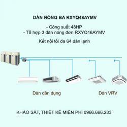 Điều hòa trung tâm Daikin VRV H RXYQ48AYMV 48HP 2 chiều