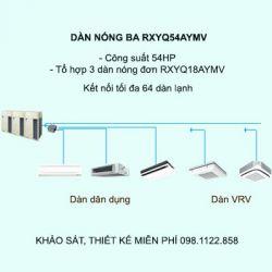 Điều hòa trung tâm Daikin VRV H RXYQ54AYMV 54HP 2 chiều