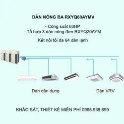 Điều hòa trung tâm Daikin VRV H RXYQ60AYMV 60HP 2 chiều
