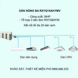 Điều hòa trung tâm Daikin VRV H RXYQ18AHYMV 18HP 2 chiều