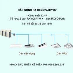 Điều hòa trung tâm Daikin VRV H RXYQ22AHYMV 22HP 2 chiều