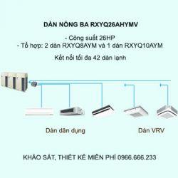 Điều hòa trung tâm Daikin VRV H RXYQ26AHYMV 26HP 2 chiều