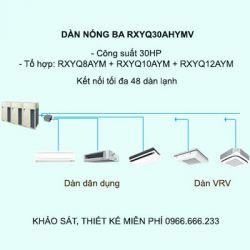 Điều hòa trung tâm Daikin VRV H RXYQ30AHYMV 30HP 2 chiều