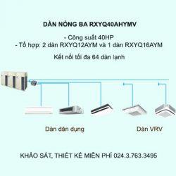 Điều hòa trung tâm Daikin VRV H RXYQ40AHYMV 40HP 2 chiều
