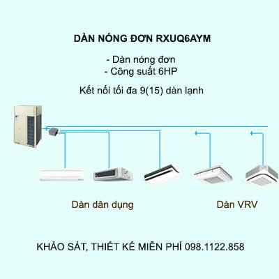 Điều hòa trung tâm Daikin VRV X RXUQ6AYM 6HP 1 chiều