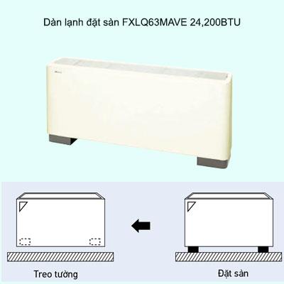 Dàn lạnh treo tường điều hòa trung tâm Daikin VRV FXAQ63PVE 24,200BTU