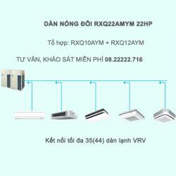 Điều hòa trung tâm Daikin VRV A RXQ22AMYM 22HP 1 chiều