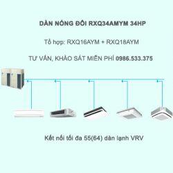 Điều hòa trung tâm Daikin VRV A RXQ34AMYM 34HP 1 chiều