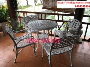bàn ghế nhôm đúc đẹp-D700