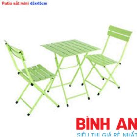 bàn ghế fansipan patio mini 45*45cm