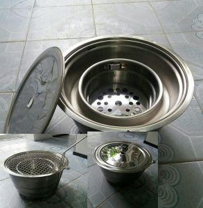 Bếp nướng than âm bàn hút trên