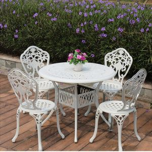bàn ghế nhôm đúc đẹp-D900