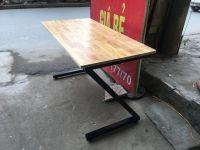 Bàn chân Z 1M4x60 gỗ cao su ghép thanh giá rẻ ( Mới 100%)