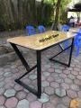 Bàn K Vát CNC gỗ cao su ghép thanh chống nước mới 100%
