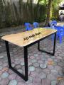 Bàn U Vát CNC mặt gỗ cao su ghép thanh 1m2 mới 100% giá rẻ
